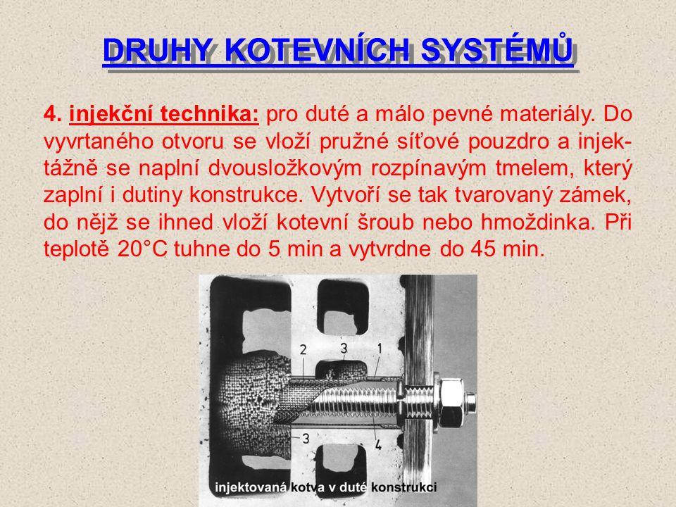 DRUHY KOTEVNÍCH SYSTÉMŮ 3.