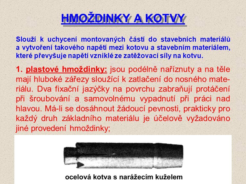 NÁSTROJE PRO VRTÁNÍ sortiment běžných nástrojů pro vrtání obsahuje: