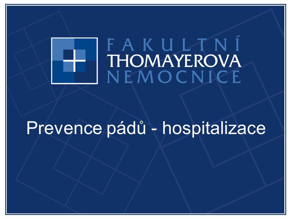 Prevence pádů - hospitalizace