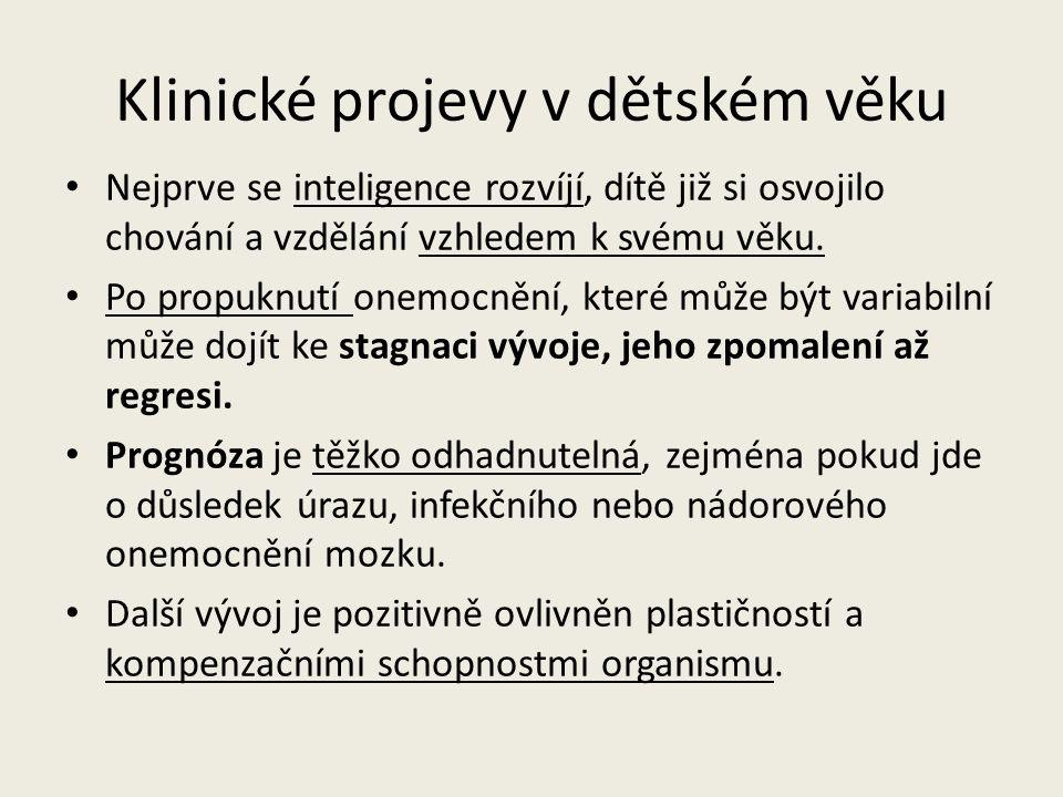 Typy demence Dvě základní skupiny podle etiologie postižení (Vágnerová,2004): 1.