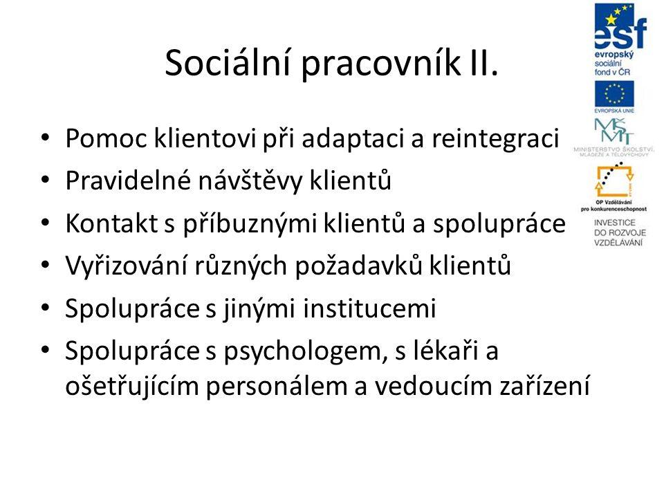Sociální pracovník II.