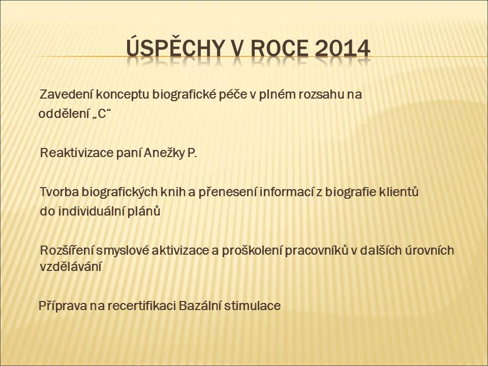 """Zavedení konceptu biografické péče v plném rozsahu na oddělení """"C Reaktivizace paní Anežky P."""