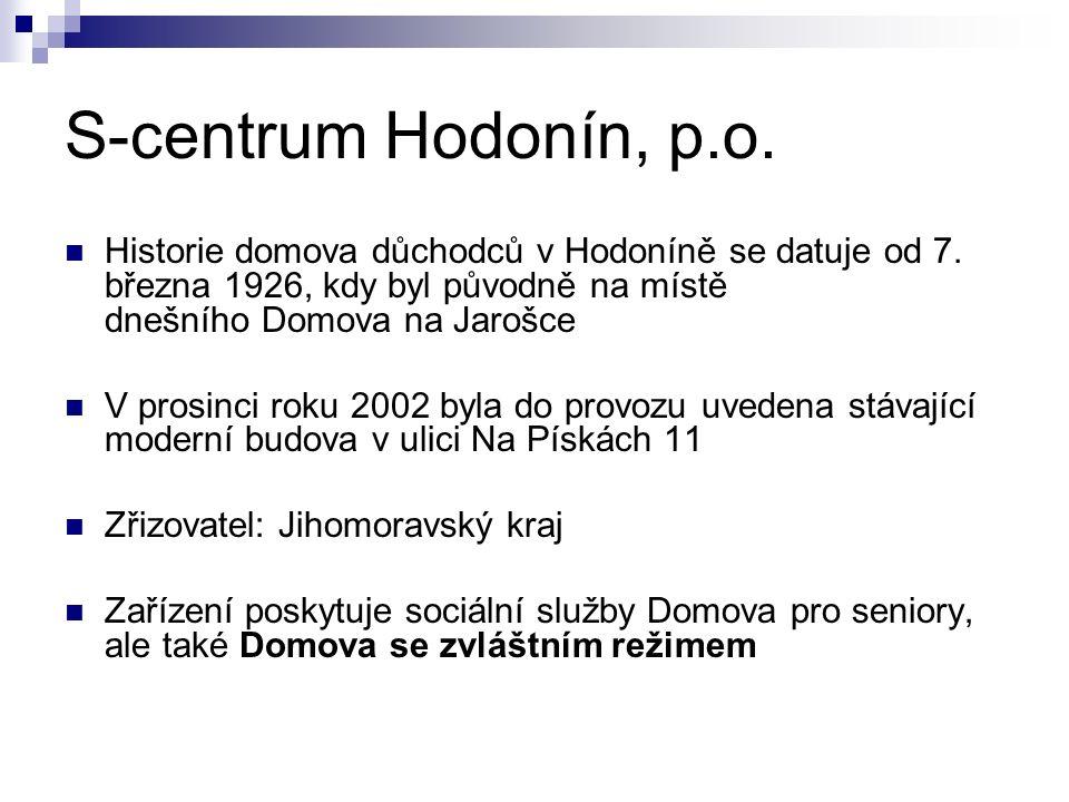 Historie domova důchodců v Hodoníně se datuje od 7. března 1926, kdy byl původně na místě dnešního Domova na Jarošce V prosinci roku 2002 byla do prov