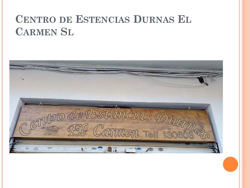 C ENTRO DE E STENCIAS D URNAS E L C ARMEN S L