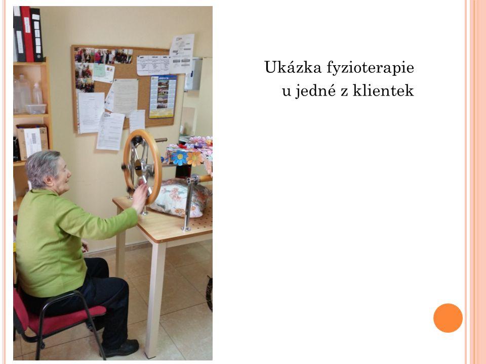 Ukázka fyzioterapie u jedné z klientek