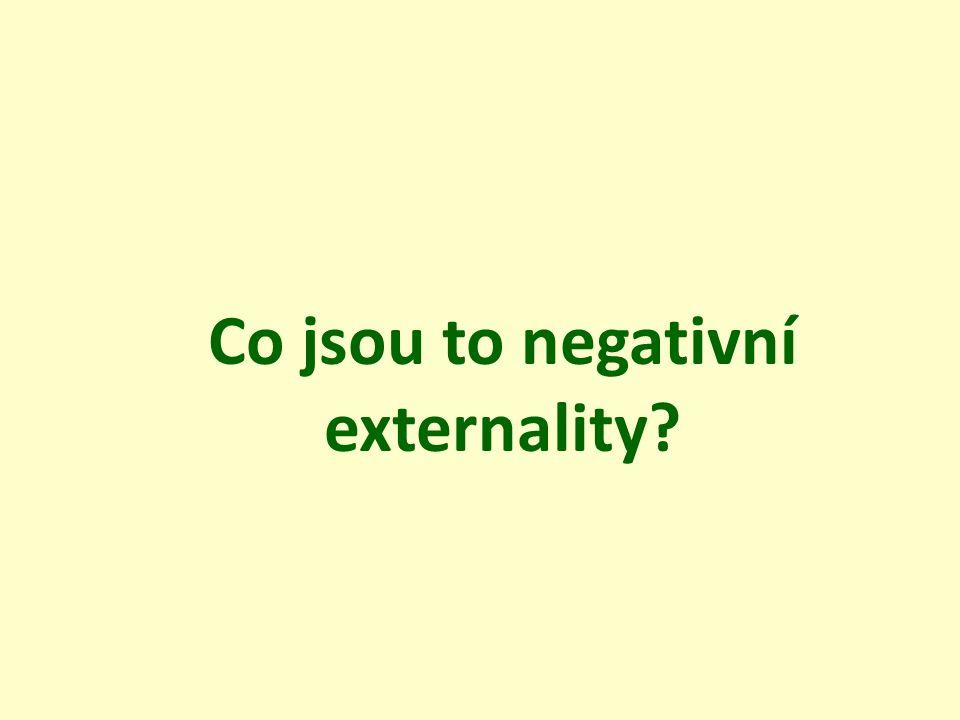 Co jsou to negativní externality