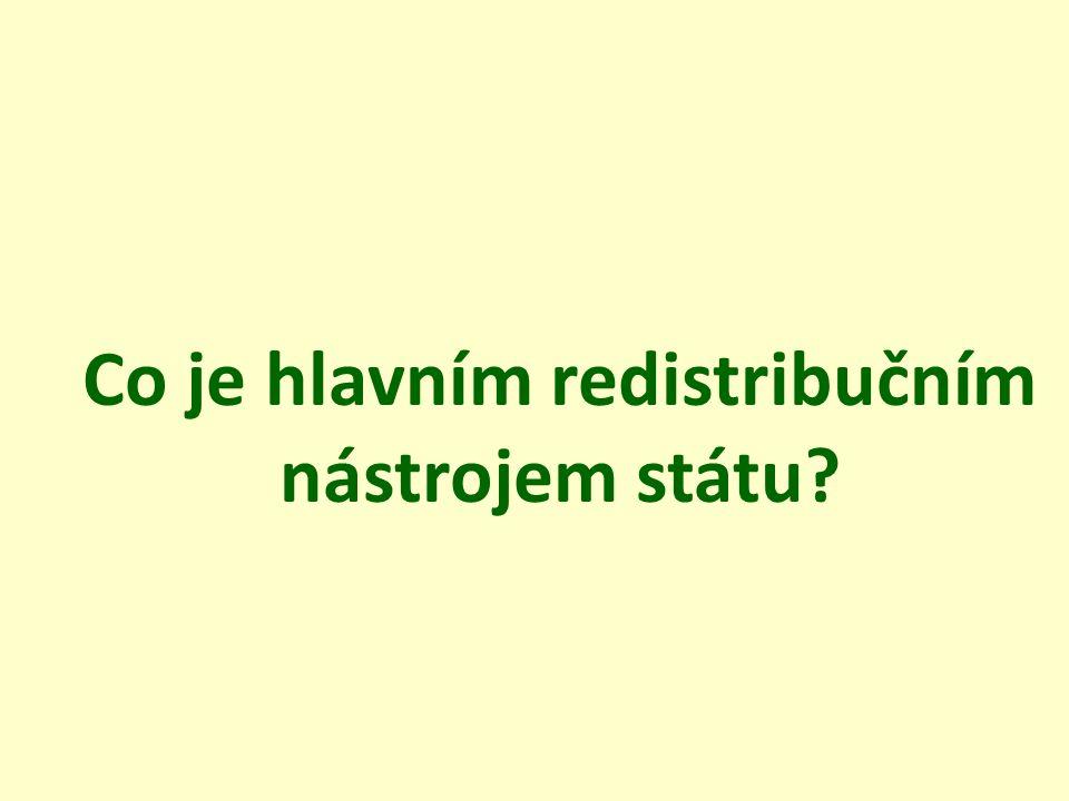 Co je hlavním redistribučním nástrojem státu?
