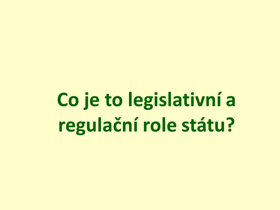 Co je to legislativní a regulační role státu?