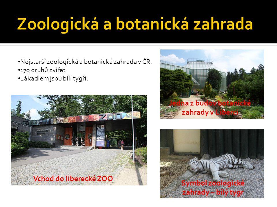 Nejstarší zoologická a botanická zahrada v ČR. 170 druhů zvířat Lákadlem jsou bílí tygři.