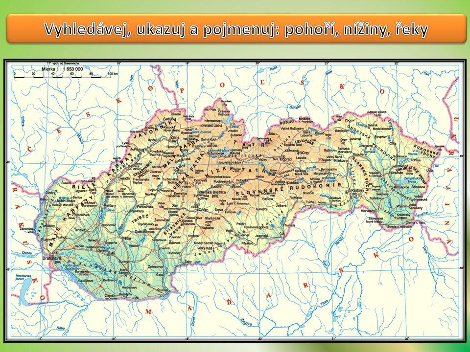 Střed Slovenska je nížina Na severu jsou nížiny Jihozápad je hornatý Severovýchod je nížinatý Má nížinatý povrch Na jihovýchodě je nížina Sever je nížinatý Jihozápad je nížina Převážně hornatý Převažují pohoří a hory Většinou nížinatý Pp Podívej se pořádně !!.