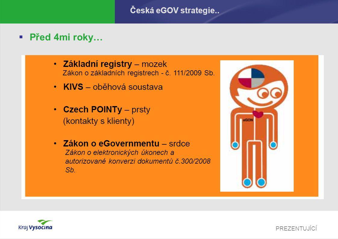 PREZENTUJÍCÍ Česká eGOV strategie..