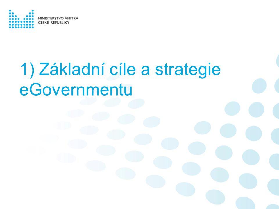 1) Základní cíle a strategie eGovernmentu