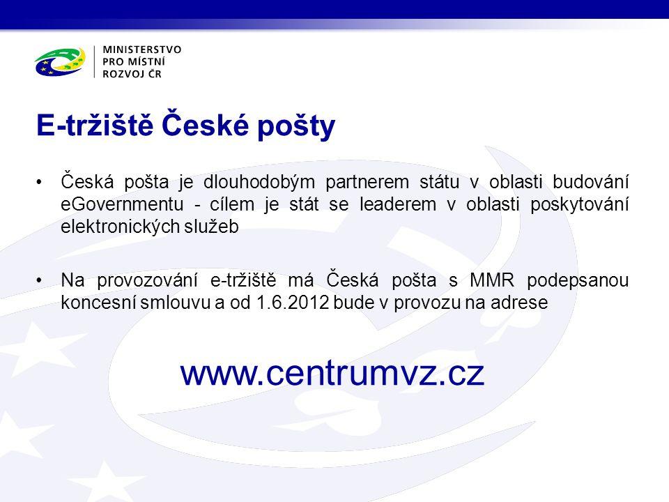 Česká pošta je dlouhodobým partnerem státu v oblasti budování eGovernmentu - cílem je stát se leaderem v oblasti poskytování elektronických služeb Na