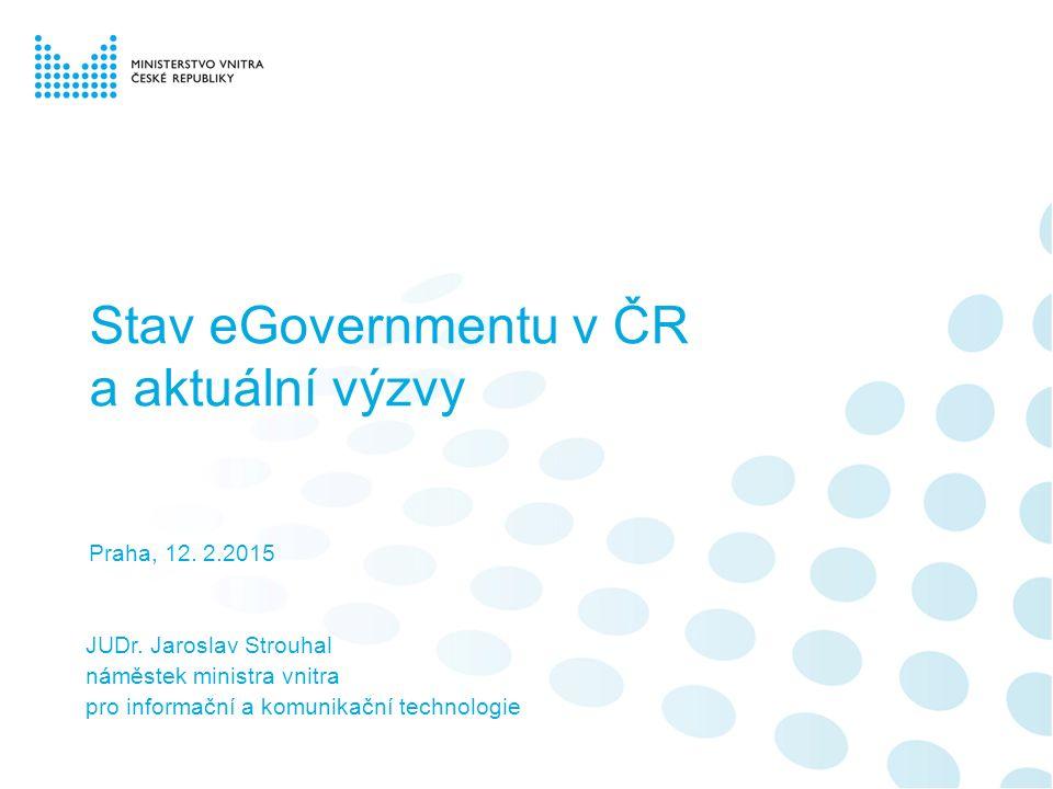 Stav eGovernmentu v ČR a aktuální výzvy Praha, 12.