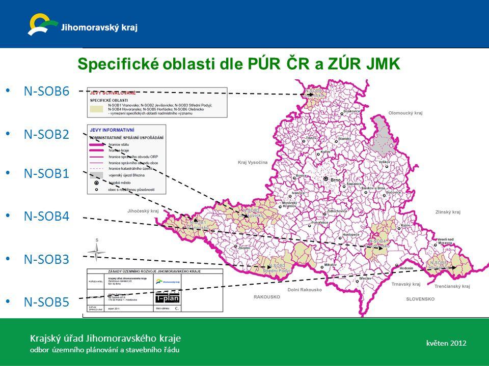 Specifické oblasti dle PÚR ČR a ZÚR JMK N-SOB6 N-SOB2 N-SOB1 N-SOB4 N-SOB3 N-SOB5 Krajský úřad Jihomoravského kraje odbor územního plánování a stavebn