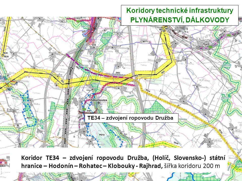 Koridory technické infrastruktury PLYNÁRENSTVÍ, DÁLKOVODY TE34 – zdvojení ropovodu Družba TE34 – Koridor TE34 – zdvojení ropovodu Družba, (Holíč, Slov