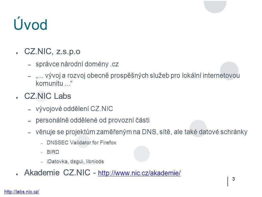 """3 Úvod ● CZ.NIC, z.s.p.o – správce národní domény.cz – """"..."""