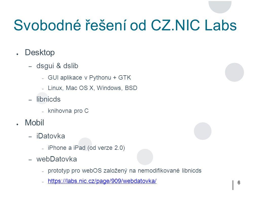 17 webOS SDK – první kroky beda@zelva:/tmp$ palm-package test creating package cz.nic.labs.test_0.1.0_all.ipk in /tmp beda@zelva:/tmp$ palm-install -d tcp cz.nic.labs.test_0.1.0_all.ipk installing package cz.nic.labs.test_0.1.0_all.ipk on device emulator {3261aebd20c9cfa70d56e95b22fbf9f55f2198d6} tcp 39196 beda@zelva:/tmp$ palm-launch -d tcp cz.nic.labs.test launching application cz.nic.labs.test on device emulator {3261aebd20c9cfa70d56e95b22fbf9f55f2198d6} tcp 39196 ● webOS eclipse plugin – spouštění webOS aplikací přímo z prostředí eclipse