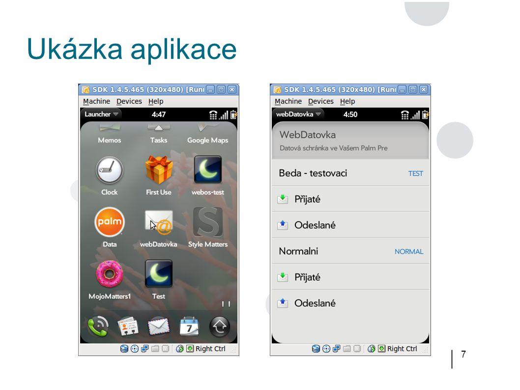 7 Ukázka aplikace