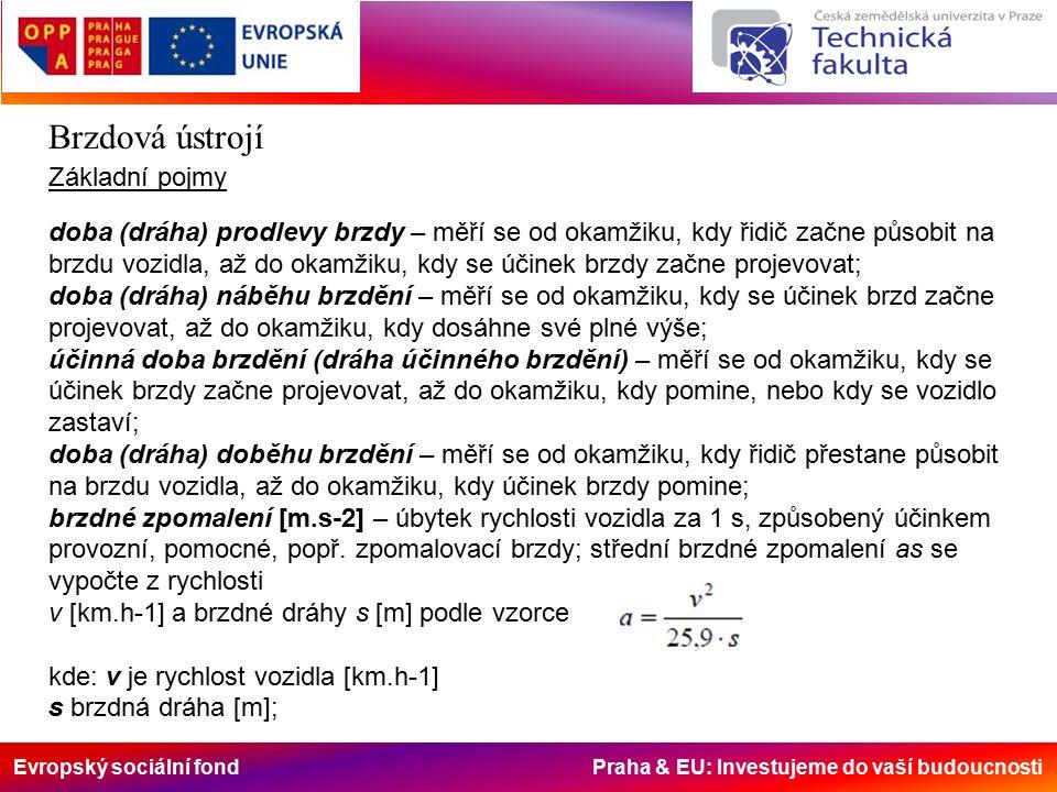 Evropský sociální fond Praha & EU: Investujeme do vaší budoucnosti Brzdová ústrojí Rozpěrné zařízení Účel rozpěrného zařízení je v přitlačení brzdových čelistí k třecí ploše brzdového bubnu.