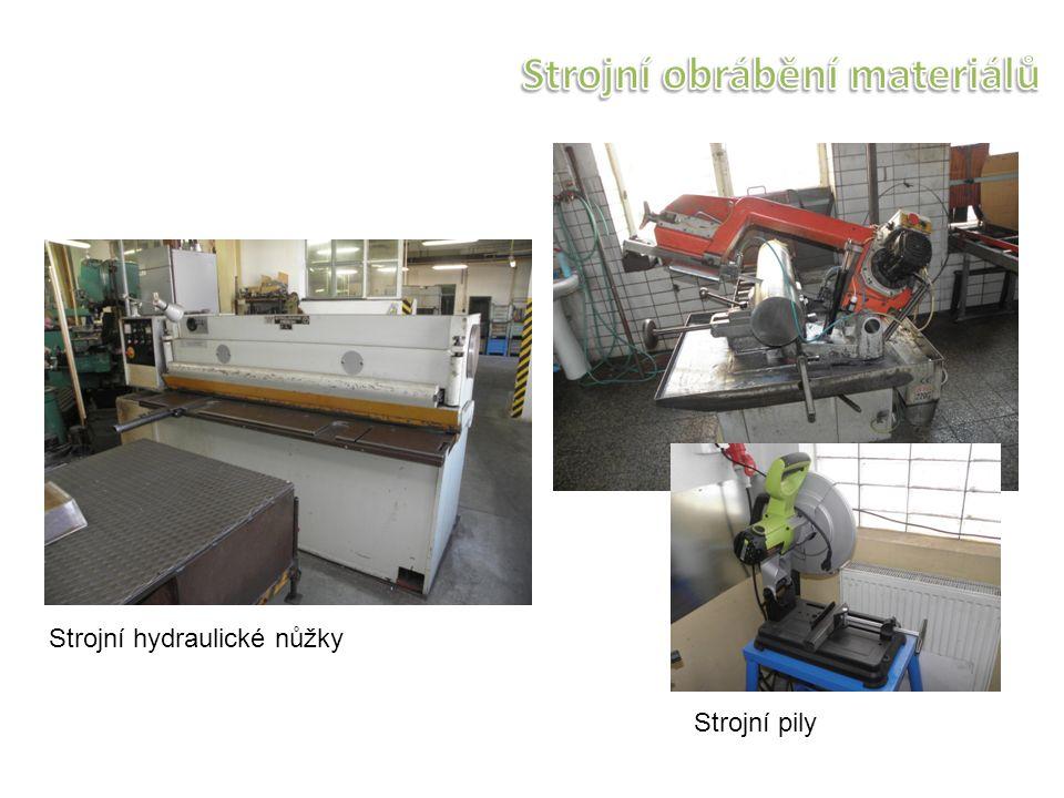 Strojní pily Strojní hydraulické nůžky