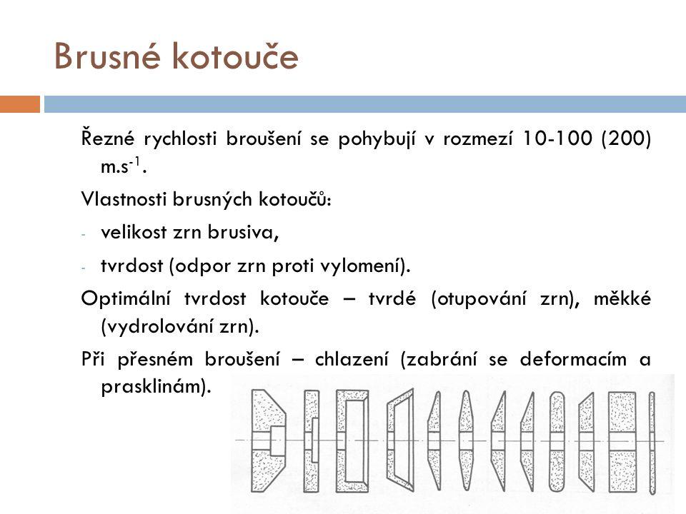 Brusky Přídavky na broušení 0,3 - 0,1 mm.