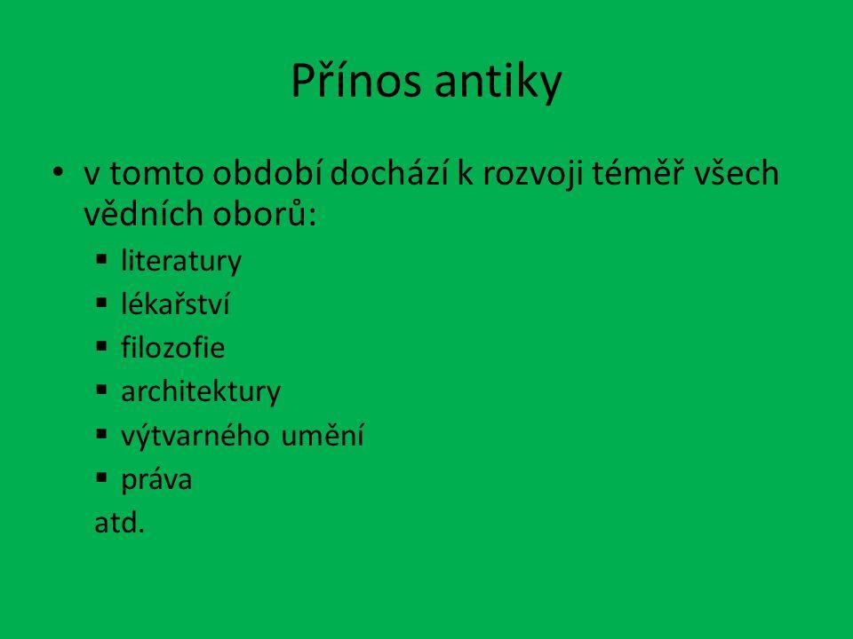 Výtvarné umění Významní řečtí sochaři: – Myrón (Diskobolos) – Polykleitos – Feidias http://commons.wikimedia.org/wiki/File:Myron.