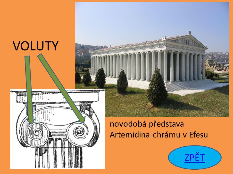 ZPĚT novodobá představa Artemidina chrámu v Efesu VOLUTY