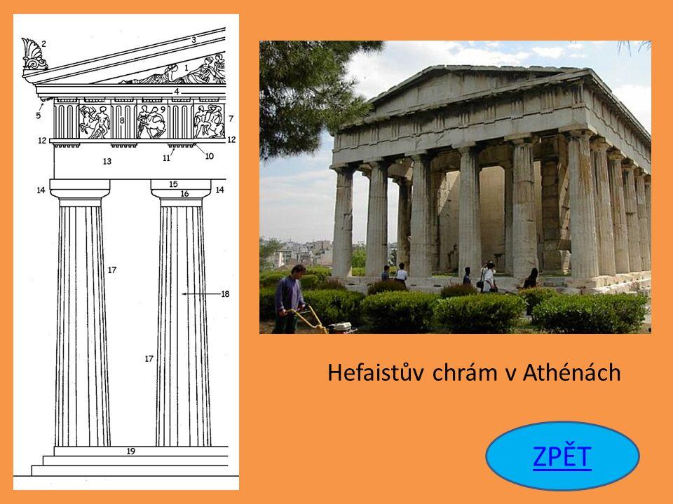 Hefaistův chrám v Athénách ZPĚT