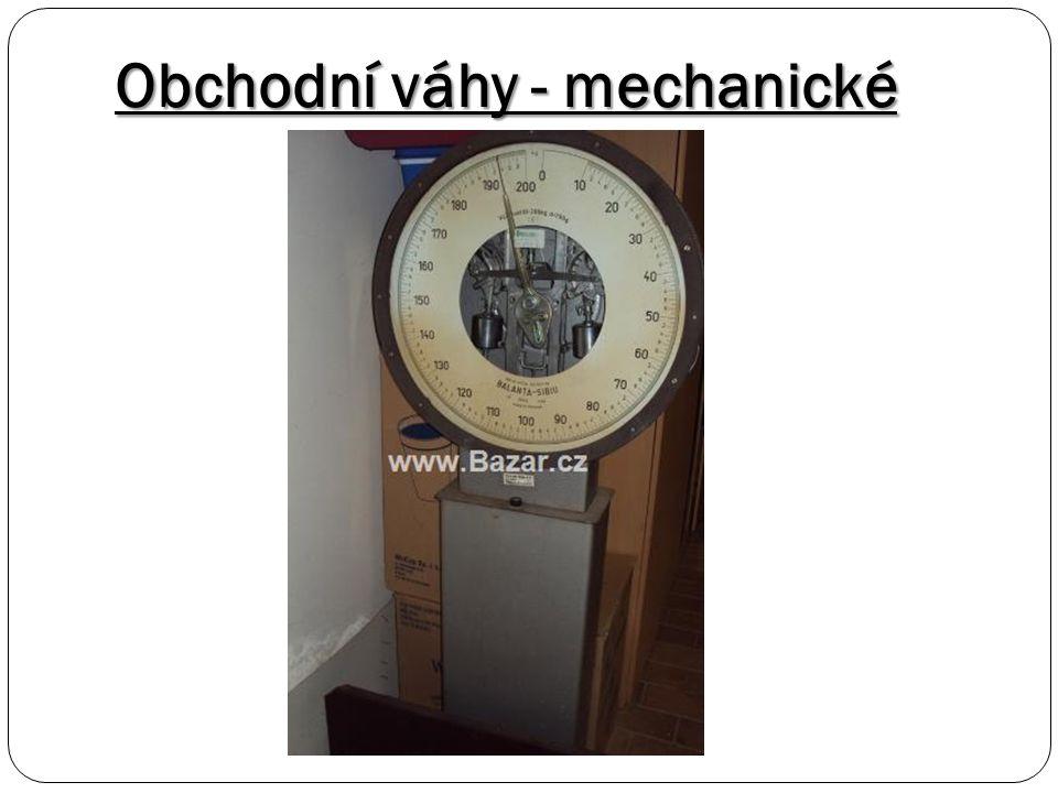Obchodní váhy - mechanické