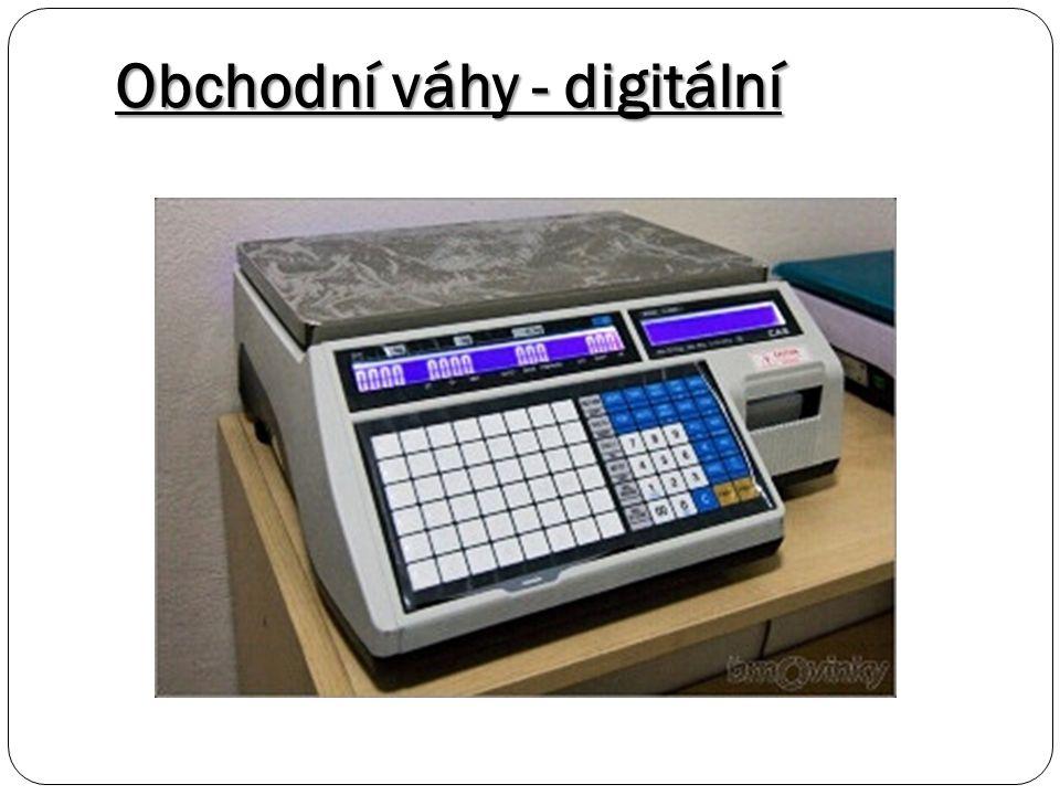 Obchodní váhy - digitální