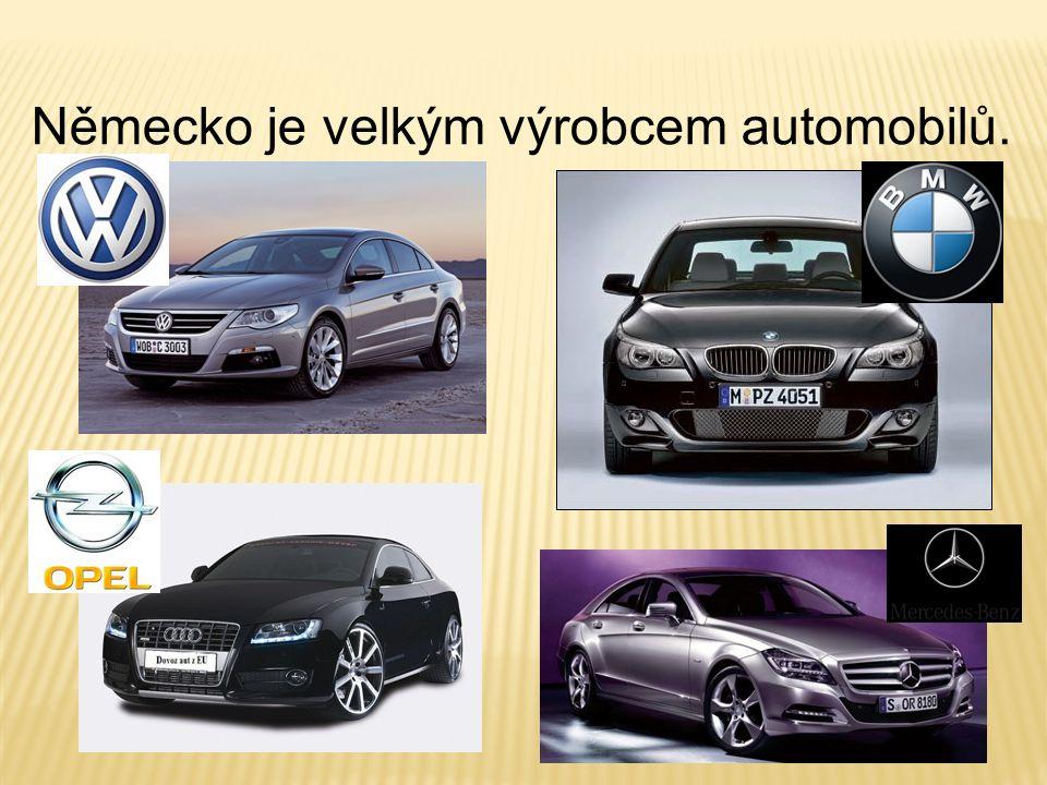 Německo je velkým výrobcem automobilů.