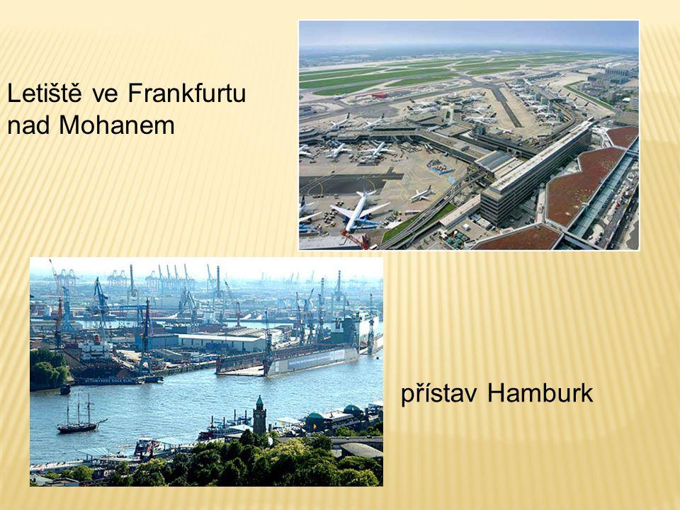 přístav Hamburk Letiště ve Frankfurtu nad Mohanem