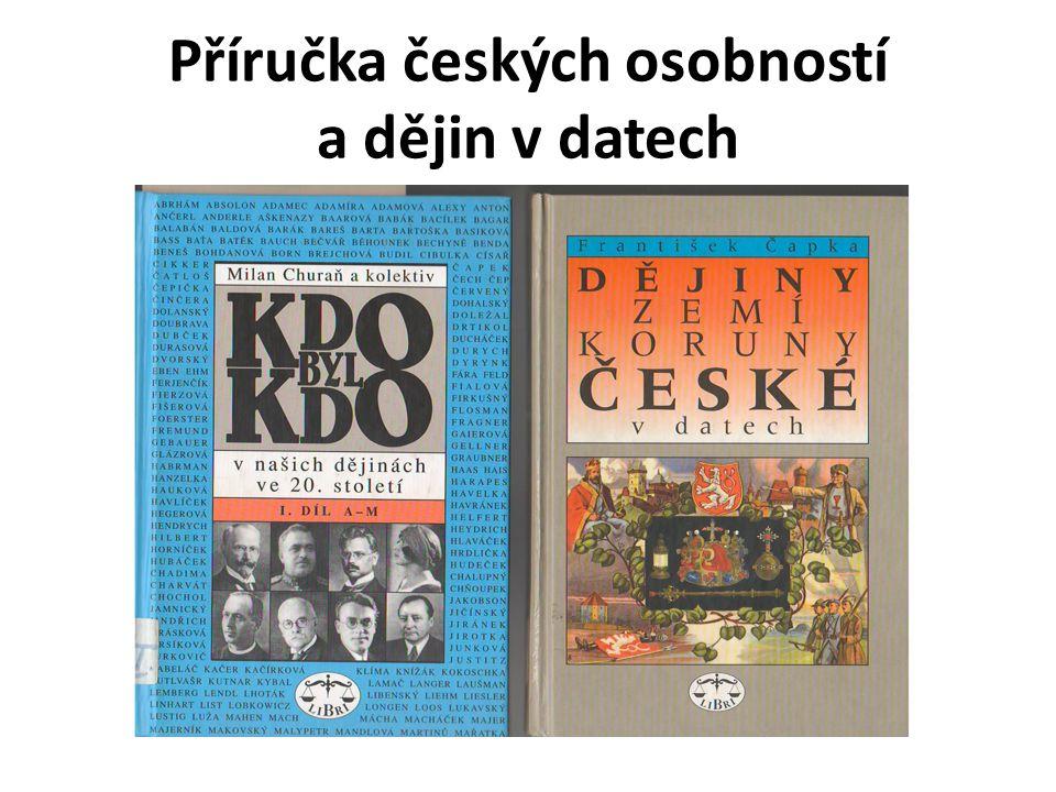 Příručka českých osobností a dějin v datech