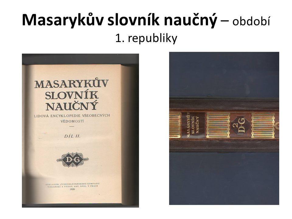Masarykův slovník naučný – období 1. republiky