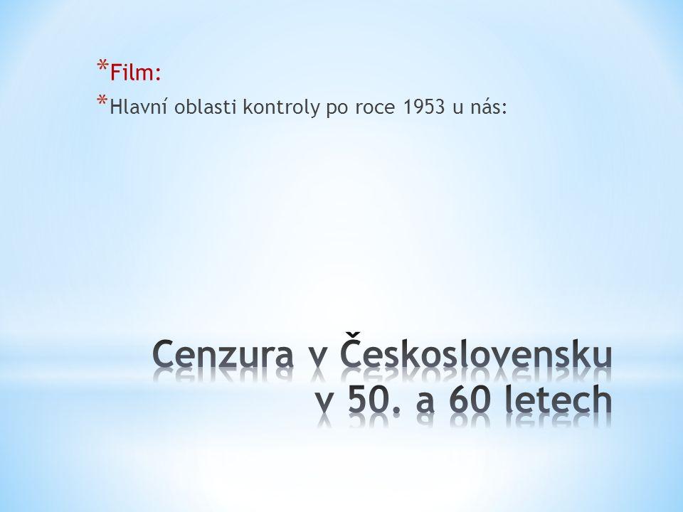 * Film: * Hlavní oblasti kontroly po roce 1953 u nás: