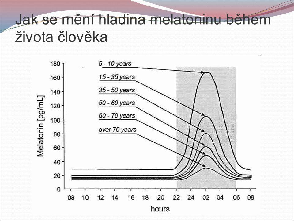 Jak se mění hladina melatoninu během života člověka