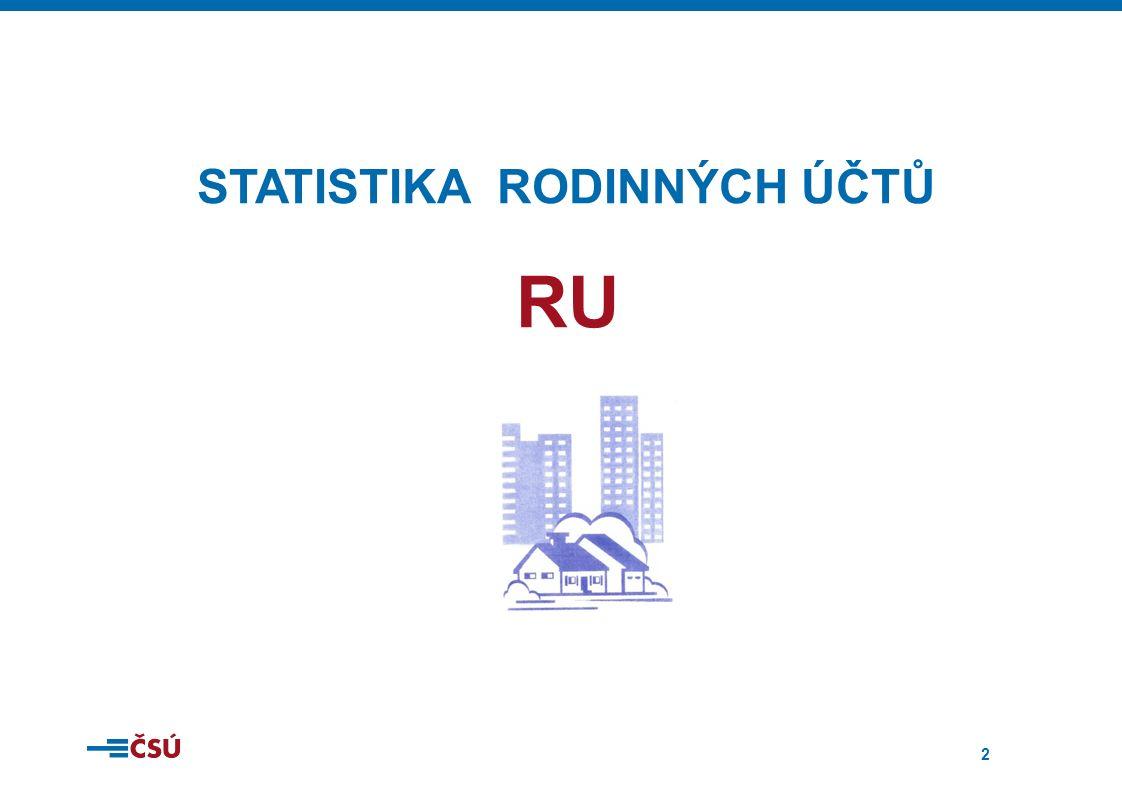 2 STATISTIKA RODINNÝCH ÚČTŮ RU