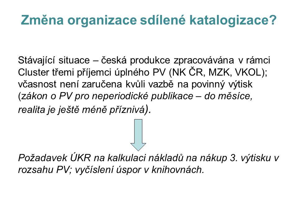 Změna organizace sdílené katalogizace.