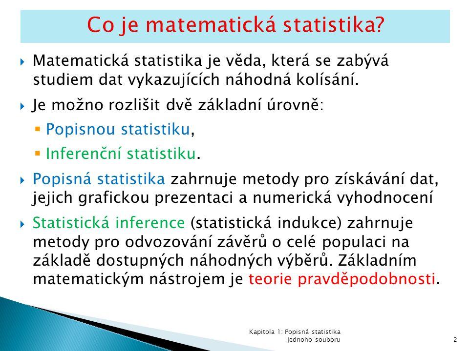 Co jsou data ve statistice.
