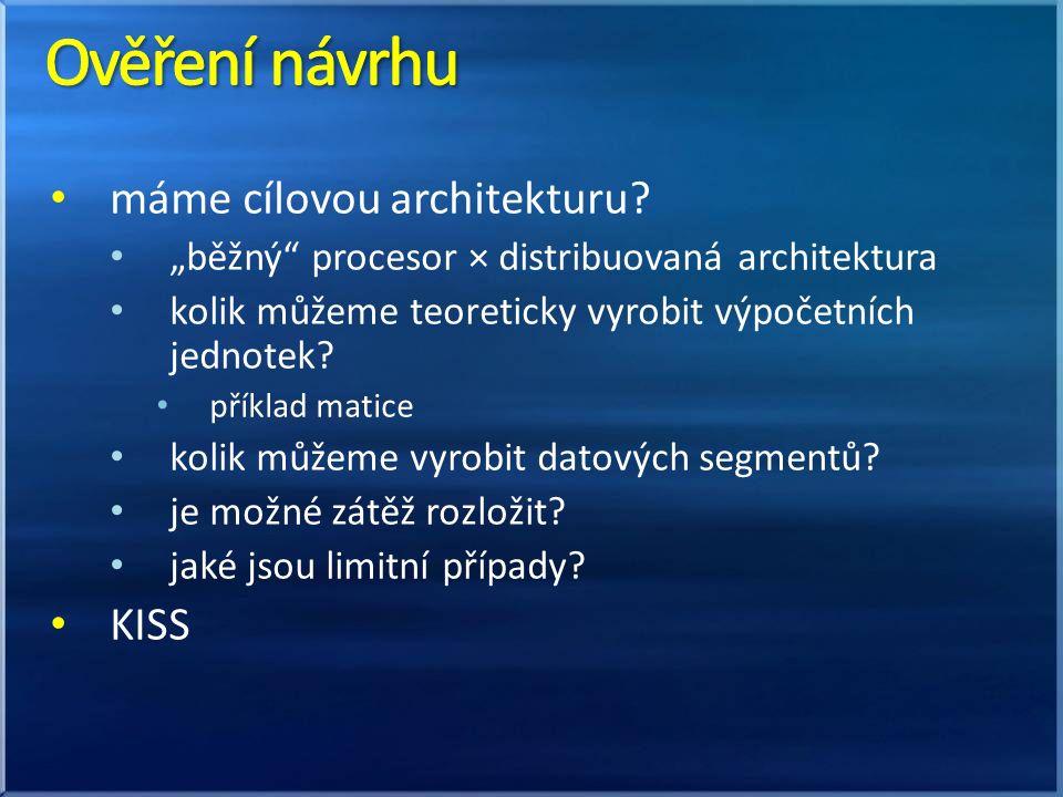 máme cílovou architekturu.