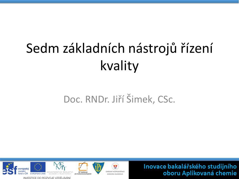 Sedm základních nástrojů řízení kvality Doc. RNDr.