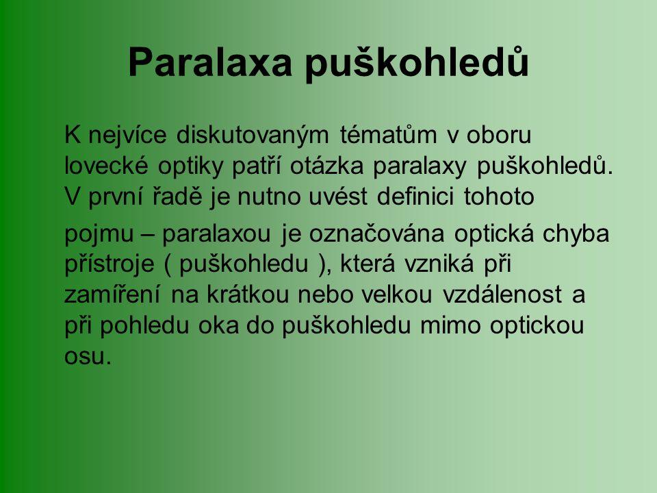 Paralaxa puškohledů K nejvíce diskutovaným tématům v oboru lovecké optiky patří otázka paralaxy puškohledů.