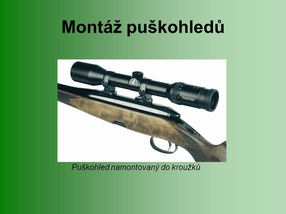 Montáž puškohledů Puškohled namontovaný do kroužků