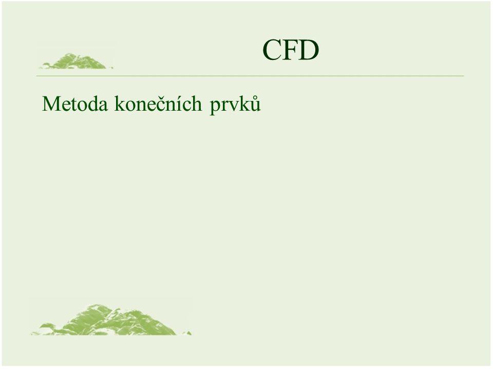 CFD Metoda konečních prvků