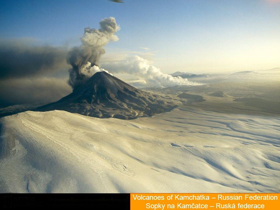 Volcanoes of Kamchatka – Russian Federation Sopky na Kamčatce – Ruská federace