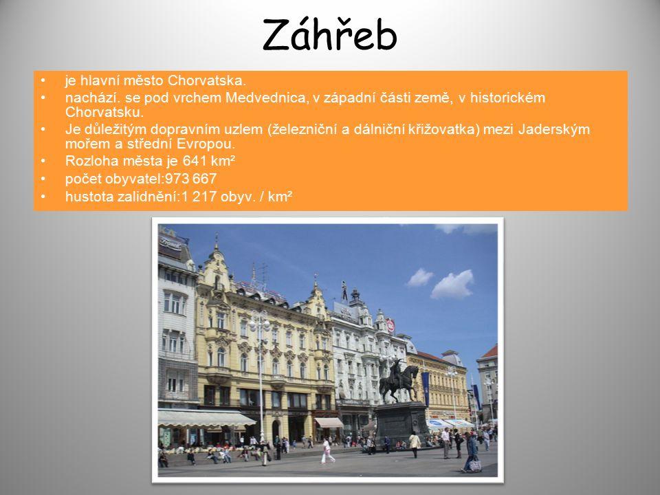 Záhřeb je hlavní město Chorvatska.nachází.
