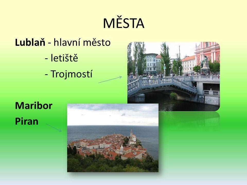 MĚSTA Lublaň - hlavní město - letiště - Trojmostí Maribor Piran