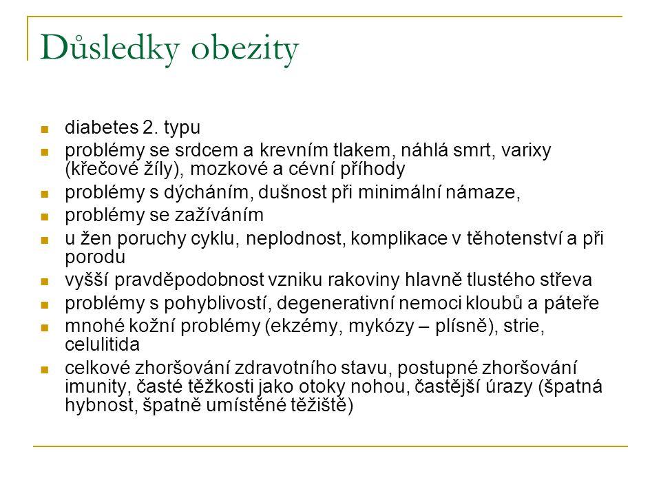 Důsledky obezity diabetes 2.