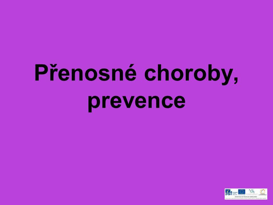 Přenosné choroby, prevence